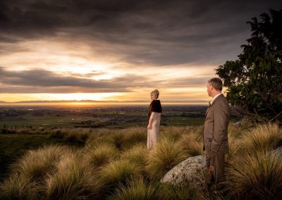 Sunset wedding at Waipuna