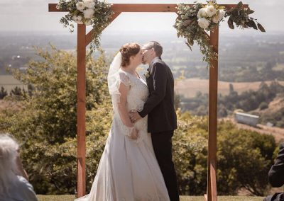 First kiss at wedding