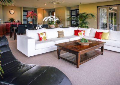 Living room at Waipuna
