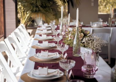 Stunning wedding table set-up at Waipuna