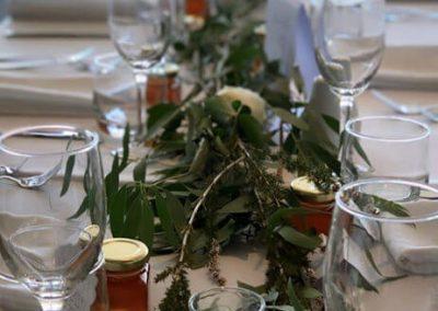 Beautiful wedding dinner setting