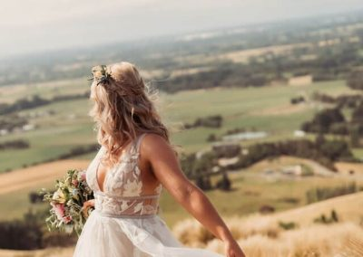 Beautiful bride and Canterbury Plains