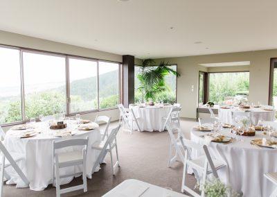 Tables set up at Waipuna