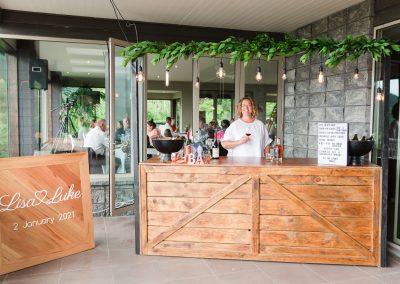 Bar set up on the terrace