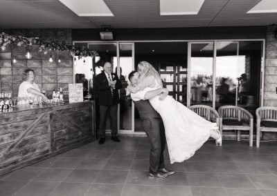 First dance on the terrace