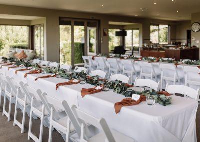 Table setting at Waipuna